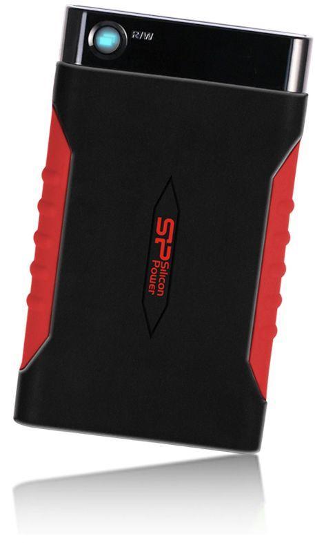 Внешний жесткий диск SILICON POWER Armor A15, 500Гб, черный/красный [sp500gbphda15s3l]