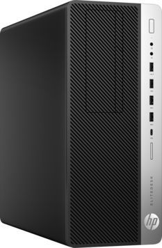 Компьютер HP EliteDesk 800 G3, Intel Core i5 7500, DDR4 8Гб, 256Гб(SSD), Intel HD Graphics 630, DVD-RW, Windows 10 Professional, черный [1hk31ea] laplaya high performance 0 75 литра бордовый