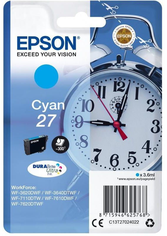 Картридж EPSON T2702, голубой [c13t27024022]