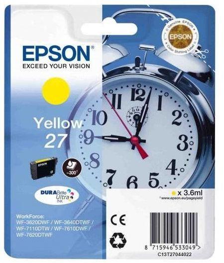 Картридж EPSON T2702, желтый [c13t27044022]