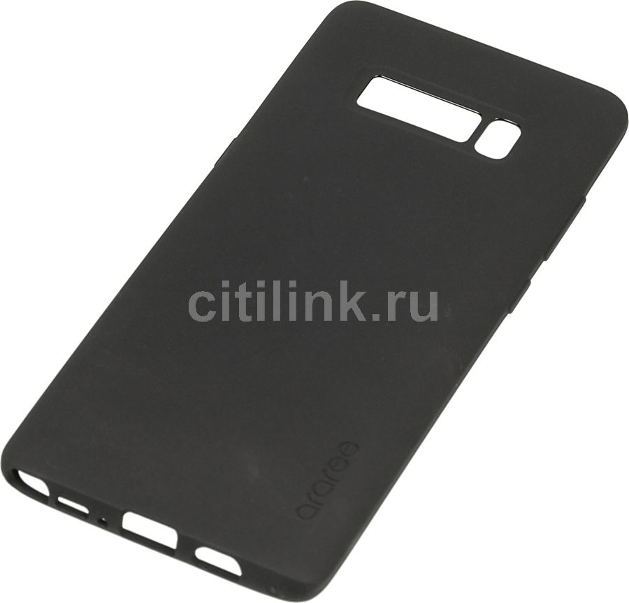 Чехол (клип-кейс) SAMSUNG araree Airfit, для Samsung Galaxy Note 8, черный [gp-n950kdcpaad] protective silicone back case w stand for samsung galaxy note 3 translucent grey white