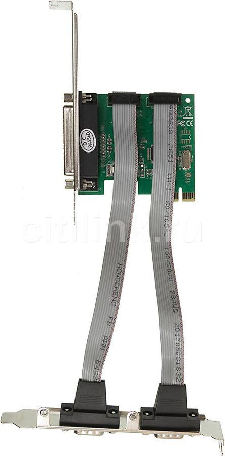Контроллер PCI-E WCH382 1xLPT 2xCOM Ret [asia pcie wch 2s1p lp]