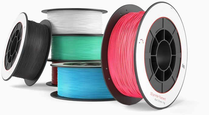 Пластик для принтера 3D BQ Aubergine PLA d1.75мм 1кг 1цв. [05bqfil023]