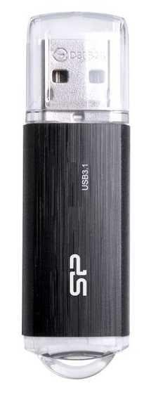 Флешка USB SILICON POWER Blaze B02 128Гб, USB3.1, черный [sp128gbuf3b02v1k]