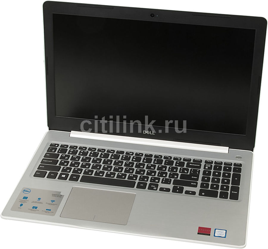 "Ноутбук DELL Inspiron 5570, 15.6"",  Intel  Core i5  8250U 1.6ГГц, 8Гб, 256Гб SSD,  AMD Radeon  530 - 4096 Мб, DVD-RW, Windows 10, 5570-5342,  белый"