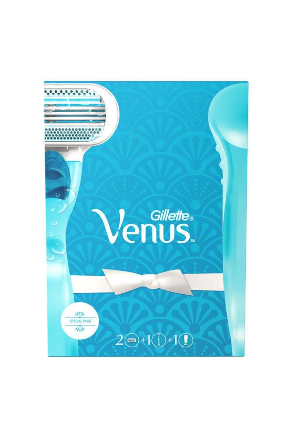 Набор подарочный GILLETTE Venus Classic, (Станок  с 2 сменными кассетами + гель для бритья  Satin Care 75мл) [vns-81628600]