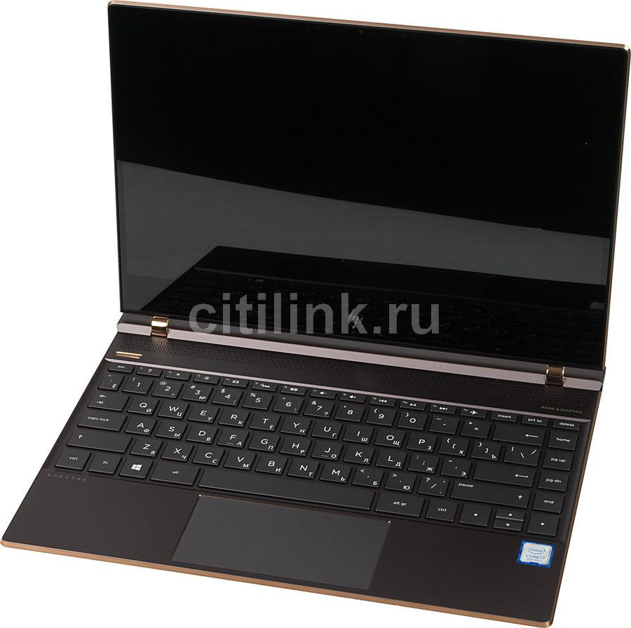 """Ультрабук HP Spectre 13-af003ur, 13.3"""",  IPS, Intel  Core i7  8550U 1.8ГГц, 8Гб, 256Гб SSD,  Intel HD Graphics  620, Windows 10, 2PQ01EA,  темно-серый"""