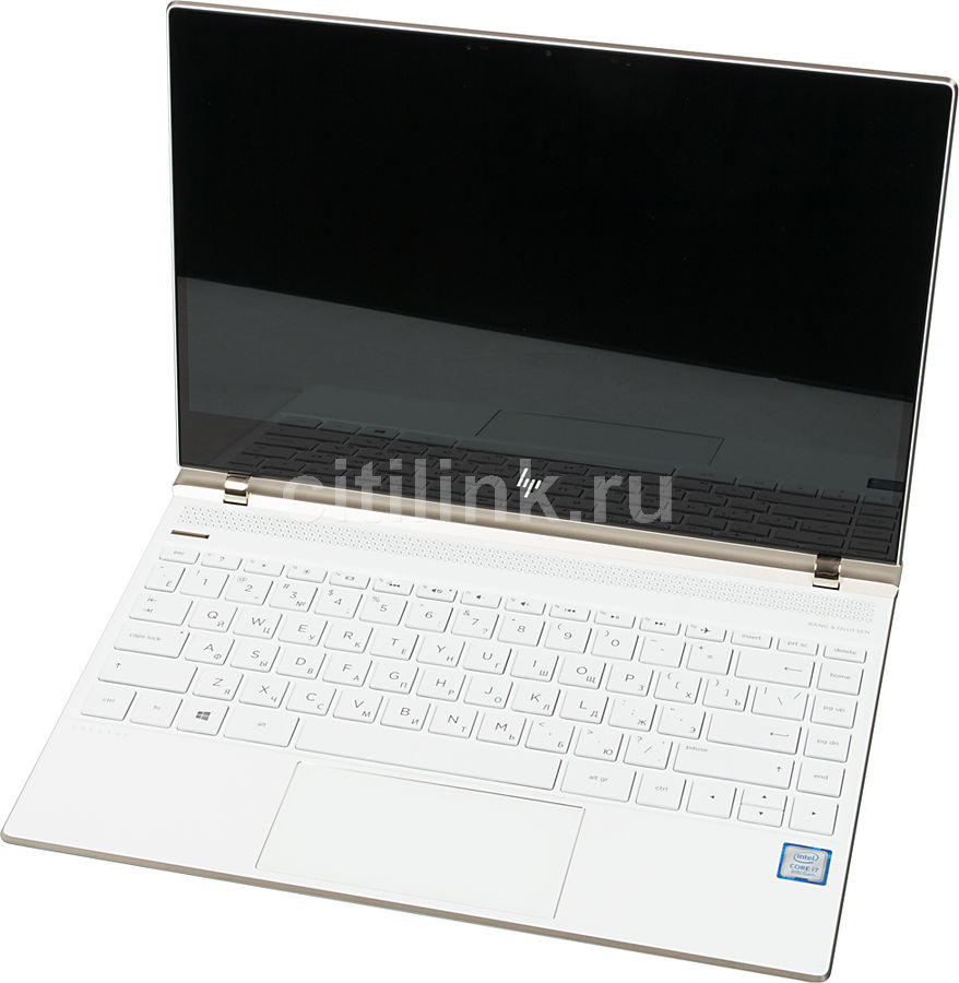 Ноутбук HP Spectre 13-af007ur, 13.3, Intel Core i7 8550U 1.8ГГц, 8Гб, 256Гб SSD, Intel HD Graphics 620, Windows 10, белый [2pt10ea] ультрабук dell xps 13 13 3 intel core i7 8550u 1 8ггц 8гб 256гб ssd intel hd graphics 620 windows 10 professional серебристый [9360 0018]