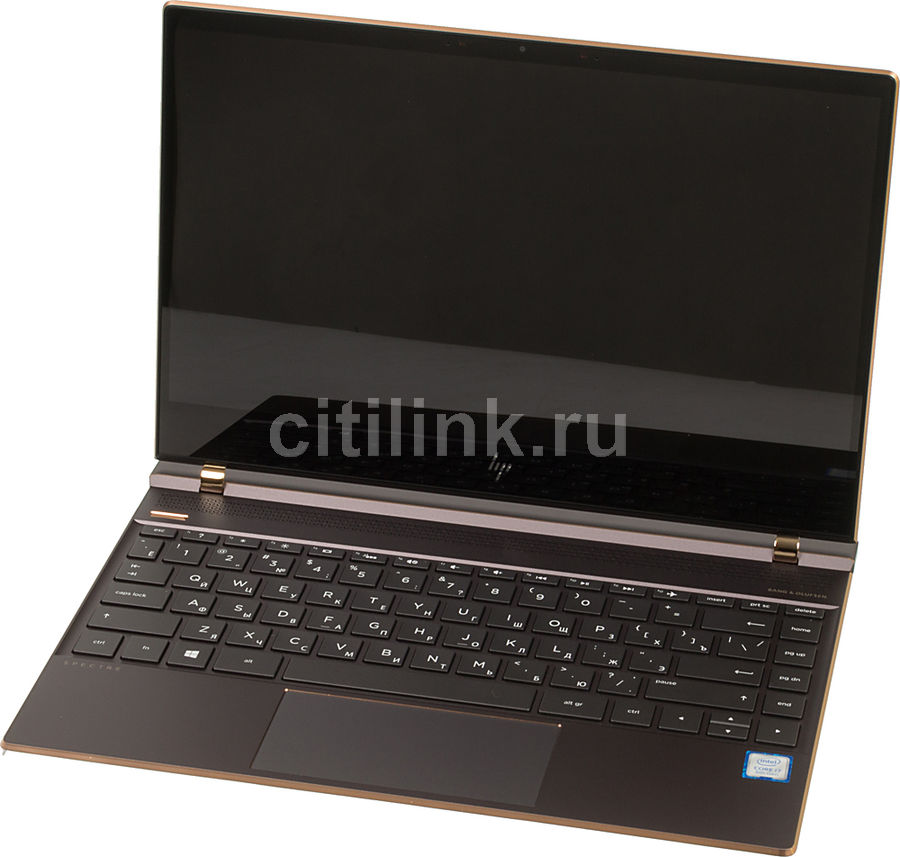 Ноутбук HP Spectre 13-af005ur, 13.3, Intel Core i7 8550U 1.8ГГц, 16Гб, 1Тб SSD, Intel HD Graphics 620, Windows 10, 2PQ03EA, темно-серый new intel core i3 7100u i5 7200u fanless intel skylake mini pc intel hd graphics 620 4k hdmi vga usb3 0 sd card desktop computer