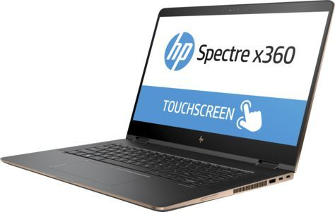 Ноутбук-трансформер HP Spectre x360 15-bl101ur, 15.6, Intel Core i7 8550U 1.8ГГц, 16Гб, 1Тб SSD, nVidia GeForce Mx150 - 2048 Мб, Windows 10, 2PQ22EA, темно-серебристыйНоутбуки<br>экран: 15.6; cенсорный экран; разрешение экрана: 3840х2160; тип матрицы: IPS; процессор: Intel Core i7 8550U; частота: 1.8 ГГц (4.0 ГГц, в режиме Turbo); память: 16384 Мб, DDR4, 2133 МГц; SSD: 1024 Гб; nVidia GeForce Mx150 - 2048 Мб; WiFi;  Bluetooth; HDMI; WEB-камера; Windows 10<br><br>Линейка: Spectre x360
