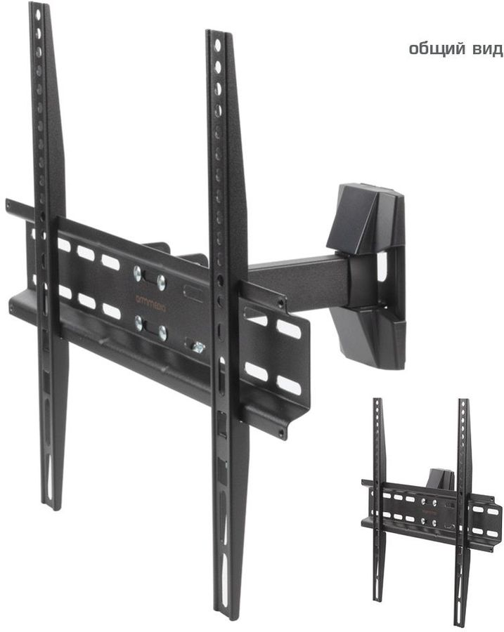 "Кронштейн для телевизора Arm Media LCD-413 черный 26""-55"" макс.35кг настенный поворот и наклон"