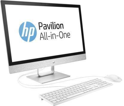"Моноблок HP Pavilion 24-r002ur, 23.8"", Intel Core i3 7100T, 4Гб, 16Гб Intel Optane,  1000Гб, Intel HD Graphics 630, DVD-RW, Windows 10, белый [2mj39ea]"