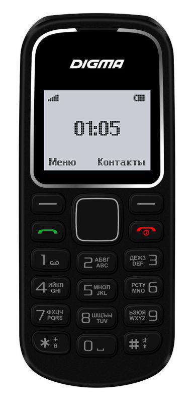 Мобильный телефон DIGMA A105 2G Linx,  черный