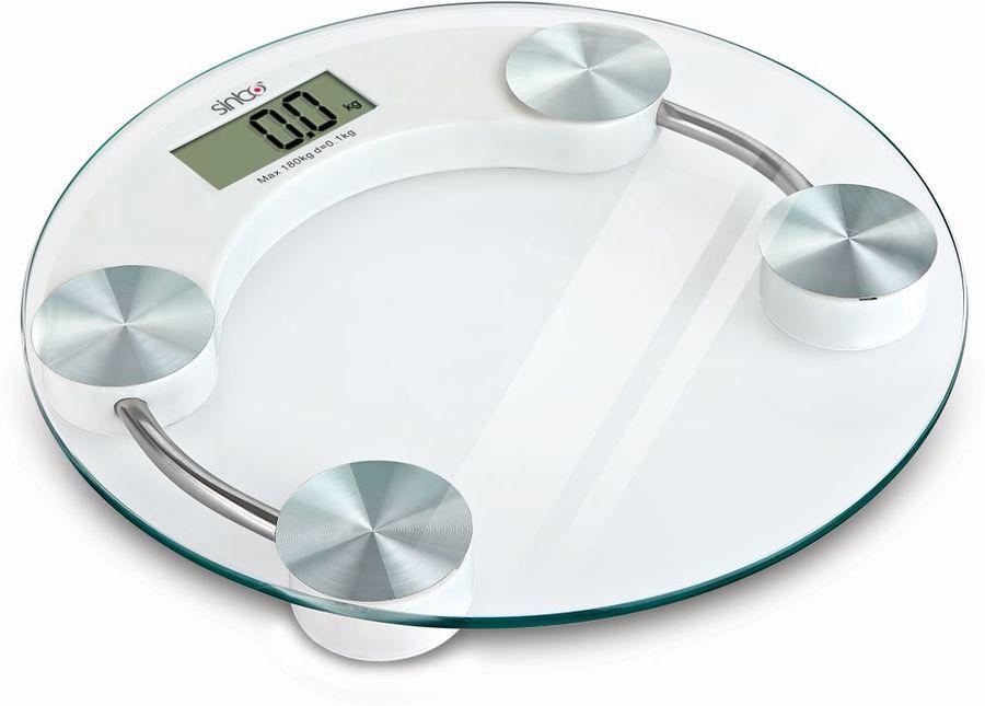 Напольные весы SINBO SBS 4442, до 180кг, цвет: прозрачный