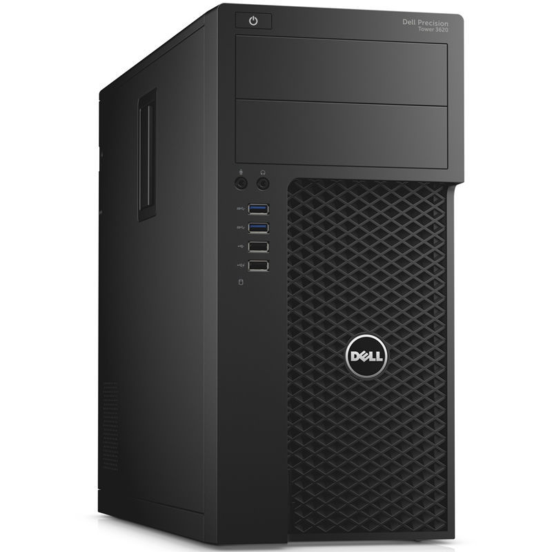 Рабочая станция  DELL Precision 3620,  Intel  Xeon  E3-1240 v6,  DDR4 16Гб, 1000Гб,  256Гб(SSD),  NVIDIA Quadro P2000 - 5120 Мб,  DVD-RW,  CR,  Windows 10 Professional,  черный [3620-4483]
