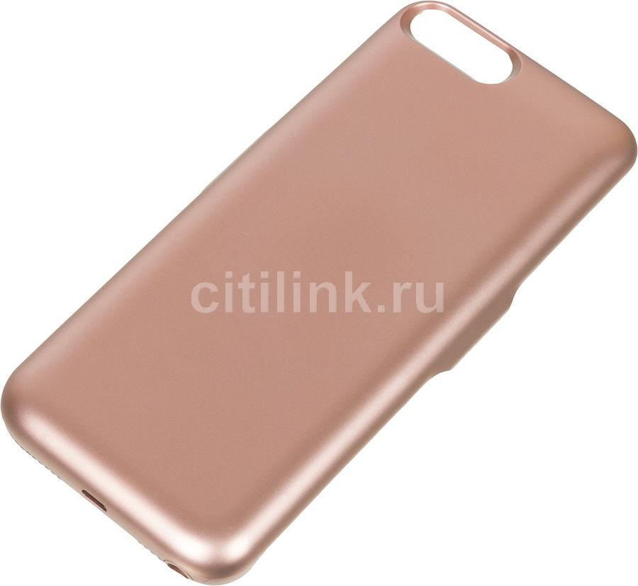 Внешний мод батарея DF iBattery-18s для iPhone 6 Plus/6s Plus/7 Plus/8 Plus 4200mAh Lightning розовы