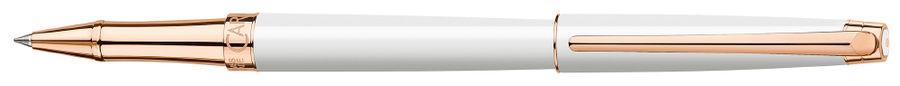 Ручка роллер Carandache Leman Slim (4771.001) White PL Rosegold F подар.кор.