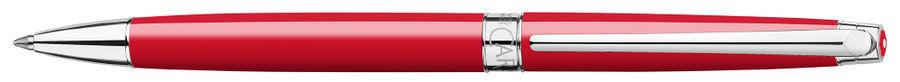 Ручка шариковая Carandache Leman Slim (4781.770) Scarlet red RH подар.кор.