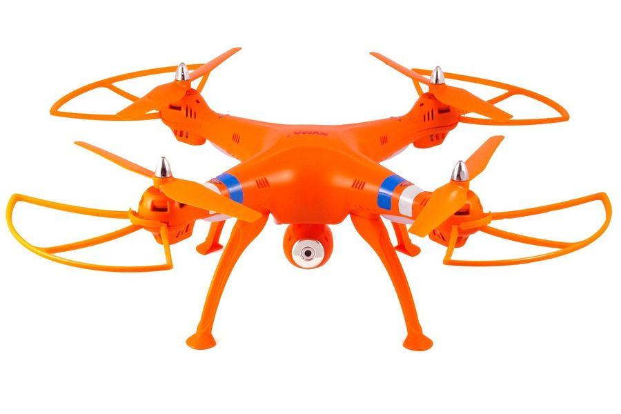 Квадрокоптер SYMA X8W с камерой,  оранжевый [x8w orange]