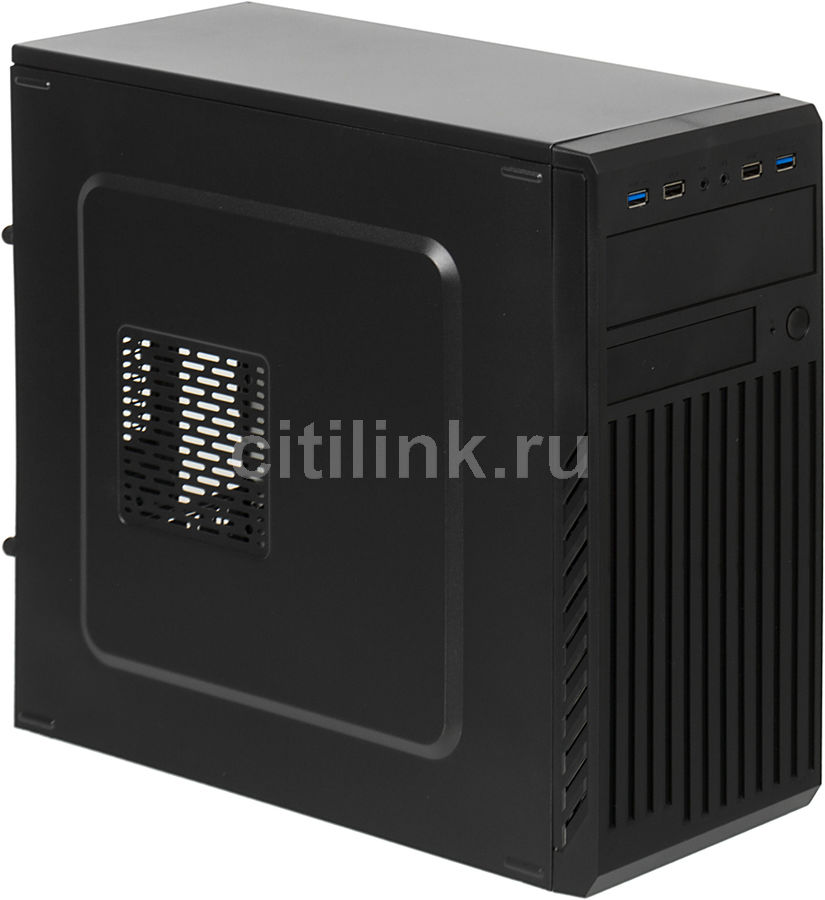 Корпус mATX ACCORD ACC-B202, Mini-Tower, без БП, черный корпус matx accord a 08b mini tower без бп черный