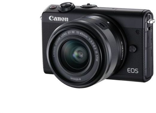 Фотоаппарат CANON EOS M100 kit ( 15-45 IS STM), черный [2209c012] цифровая фотокамера canon eos m10 15 45is stm white 0922c012