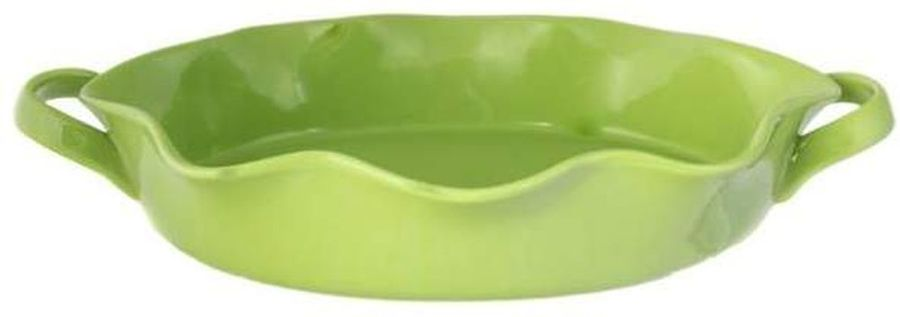Форма для выпечки Frybest PROV-44O овальн. 34х26х7,7см керамика зеленый