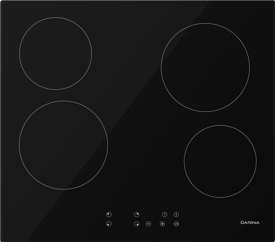 Варочная панель DARINA 4P E 323 B,  Hi-Light,  независимая,  черный