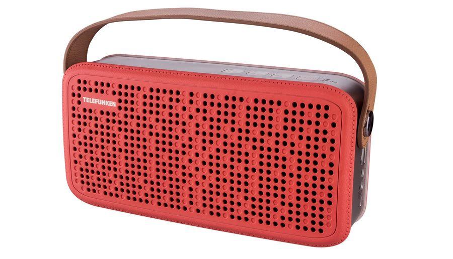 Аудиомагнитола TELEFUNKEN TF-PS1230B,  красный и коричневый