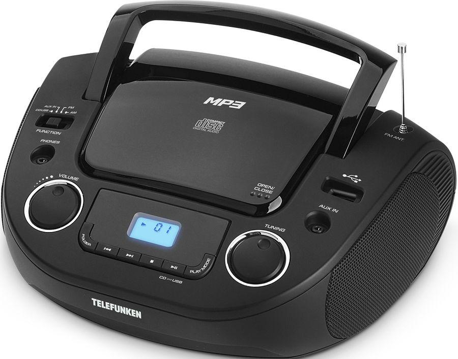 Аудиомагнитола TELEFUNKEN TF-CSRP3481,  черный