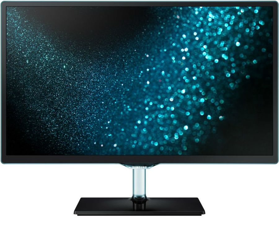 "LED телевизор SAMSUNG LT24H390SIXXRU  ""R"", 23.5"", FULL HD (1080p),  черный/ синий"