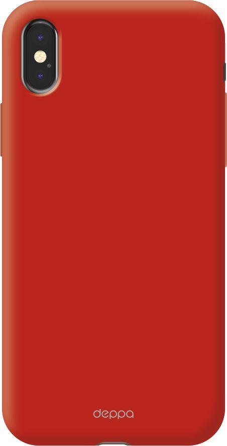 Чехол (клип-кейс) DEPPA Air Case, для Apple iPhone X/XS, красный [83324]