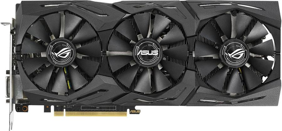 Видеокарта ASUS nVidia GeForce GTX 1070Ti , ROG-STRIX-GTX1070TI-A8G-GAMING, 8Гб, GDDR5, OC, Ret asus rog strix geforce gtx 1050 oc 2gb видеокарта