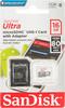 Карта памяти microSDHC UHS-I SANDISK Ultra 80 16 ГБ