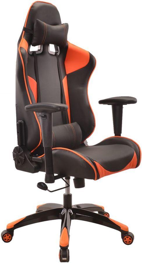 Кресло игровое БЮРОКРАТ CH-775, на колесиках, искусственная кожа [ch-775/bl+or]