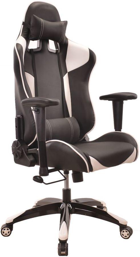 Кресло игровое БЮРОКРАТ CH-775, на колесиках, искусственная кожа [ch-775/bl+wh]
