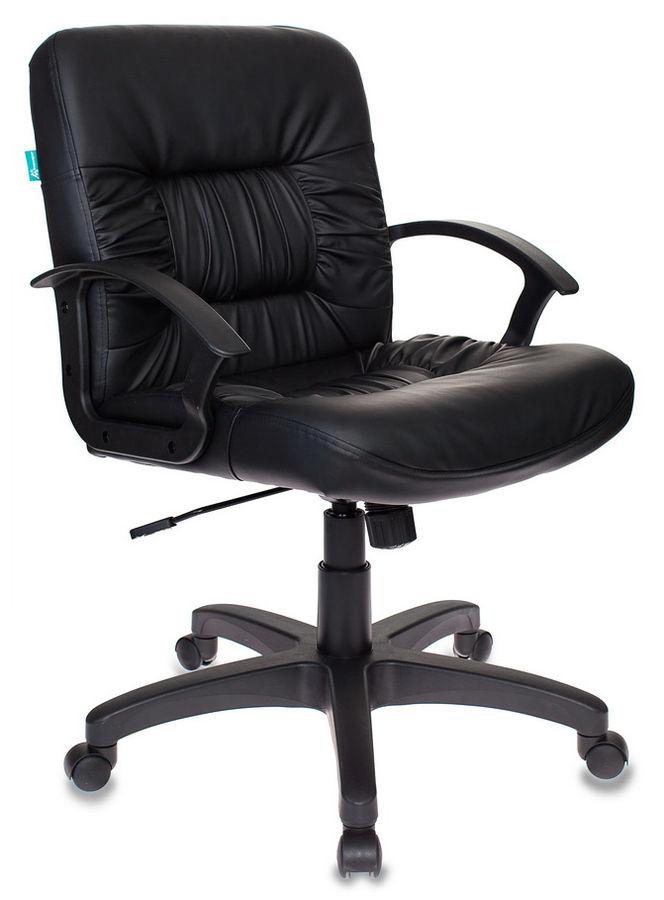 Кресло БЮРОКРАТ KB-7, на колесиках, искусственная кожа, черный [kb-7/black]