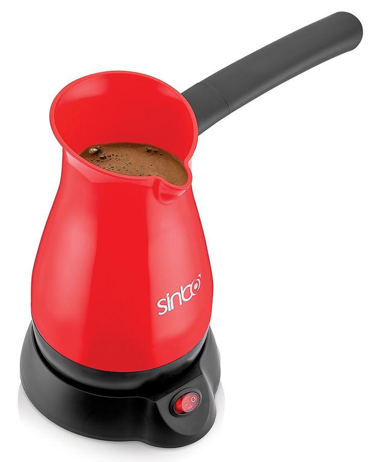 Кофеварка SINBO SCM 2948,  Электрическая турка,  красный