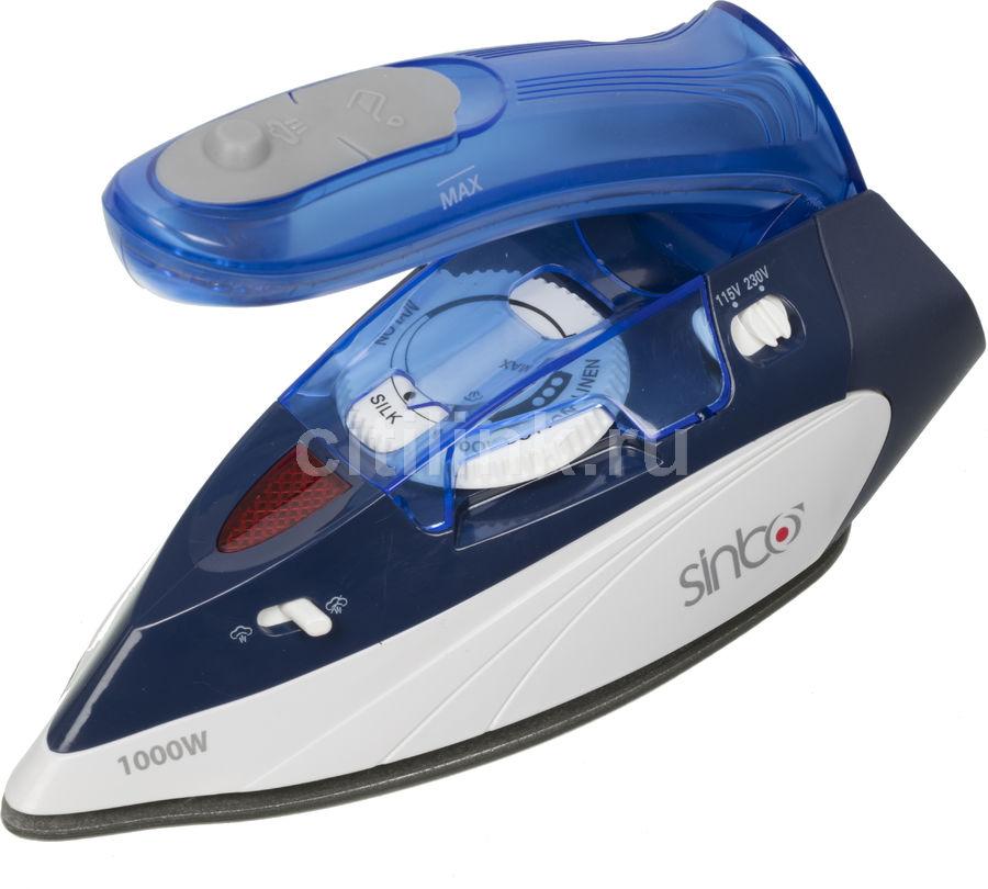 Утюг SINBO SSI 6623,  1000Вт,  синий/ белый