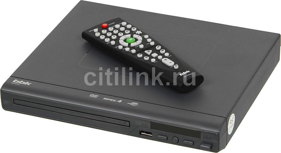 DVD-плеер BBK DVP030S,  темно-серый [player dvp030s б/д т-с c]