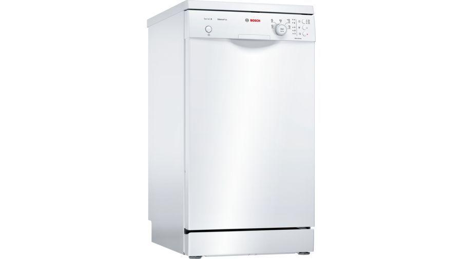 Посудомоечная машина BOSCH SPS25FW10R,  узкая, белая