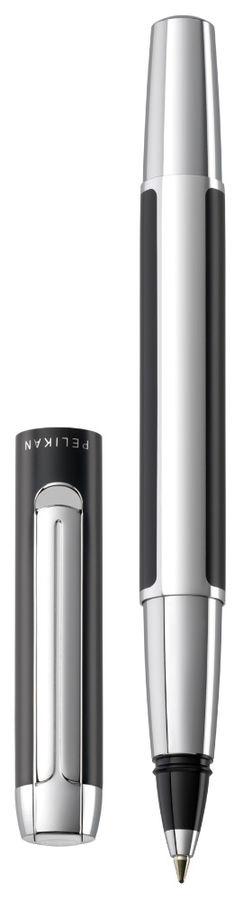 Ручка роллер Pelikan Elegance Pura R40 (PL904441) черный/серебристый подар.кор.