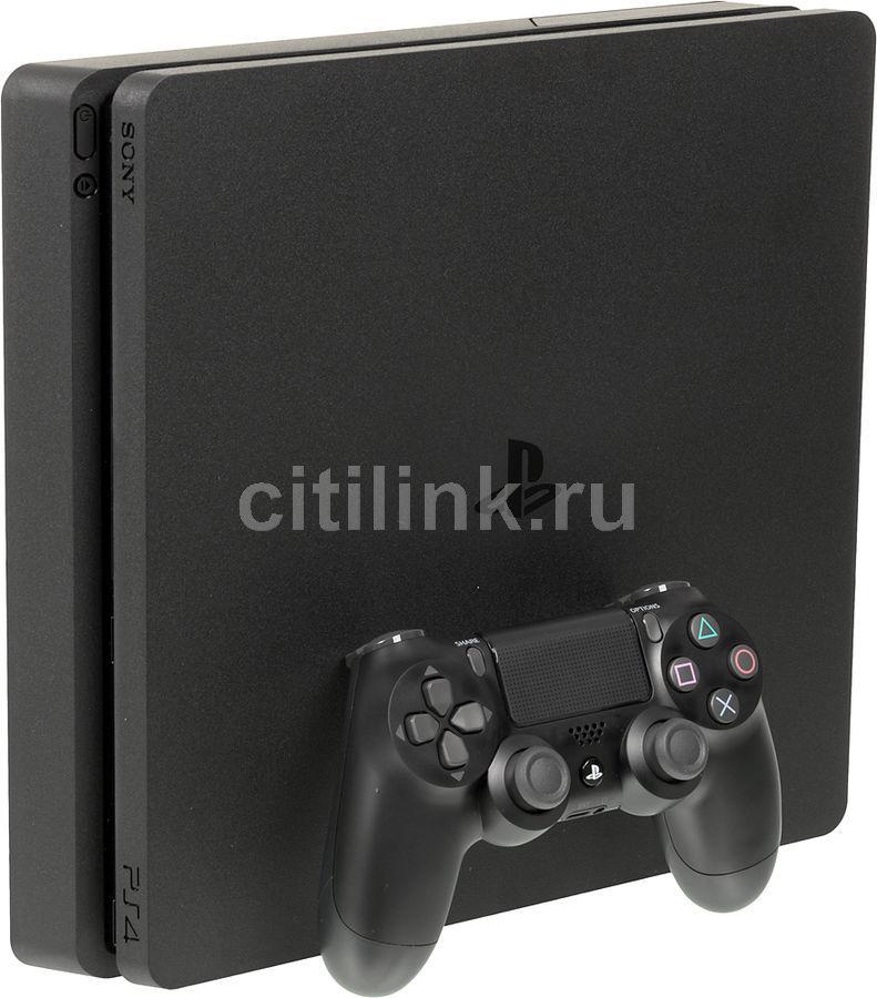 Игровая консоль SONY PlayStation 4 Slim с 1ТБ памяти, игрой Gran Turismo Sport,  CUH-2108B, черный