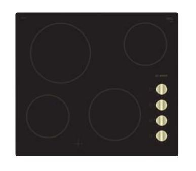 Варочная панель BOSCH PKE611CA2E,  электрическая,  независимая,  черный
