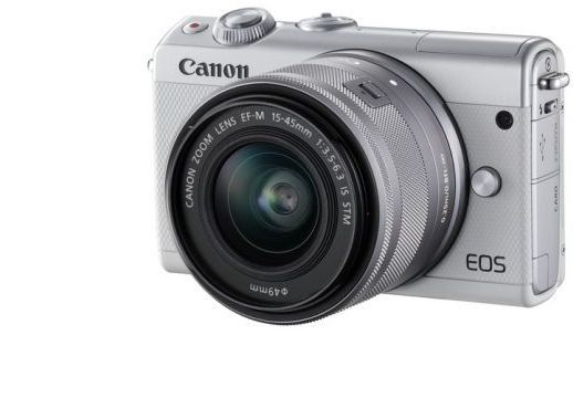 Фотоаппарат CANON EOS M100 kit ( 15-45 IS STM), белый [2210c012] цифровая фотокамера canon eos m10 15 45is stm white 0922c012