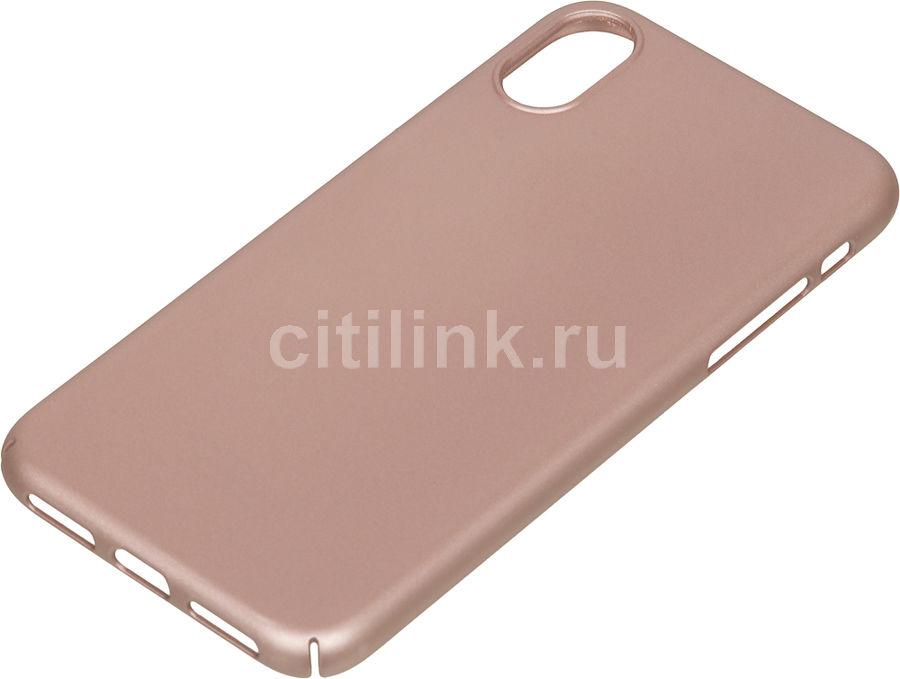Чехол (клип-кейс) DEPPA Air Case, для Apple iPhone X, розовое золото [83323]