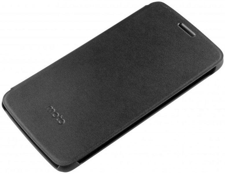 Чехол (флип-кейс) Motorola для Motorola Moto E Flip Cover черный (PG38C01793) (плохая упаковка)