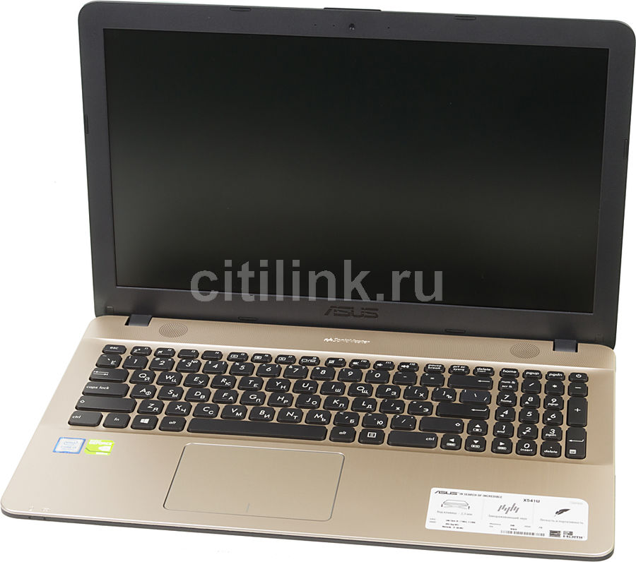Ноутбук ASUS VivoBook X541UV-GQ984T, 15.6, Intel Core i3 7100U 2.4ГГц, 8Гб, 1000Гб, nVidia GeForce 920MX - 2048 Мб, DVD-RW, Windows 10, 90NB0CG1-M22220, черный ноутбук hasee 14 intel i3 3110m dvd rw nvidia geforce gt 635m intel gma hd 4000 2 g k460n