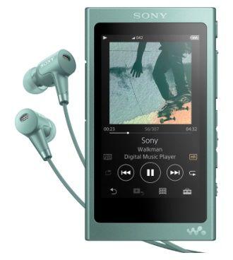 MP3 плеер SONY NW-A45HN flash 16Гб зеленый [nwa45hng.ee]