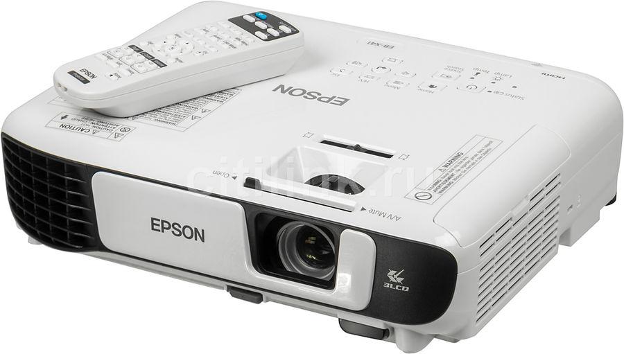 Проектор EPSON EB-X41 белый [v11h843040]