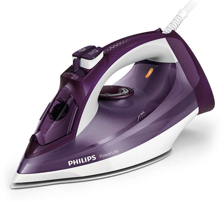 Утюг PHILIPS GC2995/30,  2400Вт,  фиолетовый/ белый